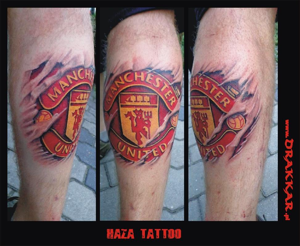 tatuaż manchester united, Gliwicach