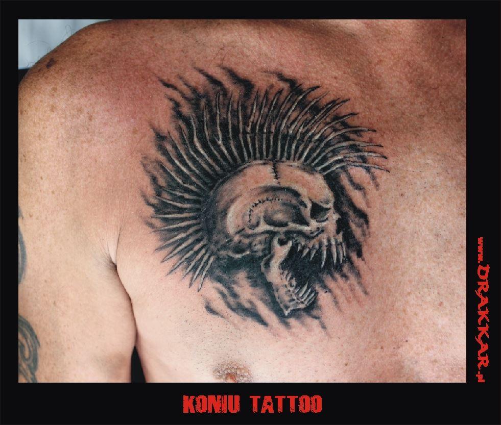 tatuaż czaszka, Glwice