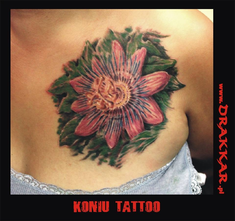 tatutaż kwiat, Gliwice