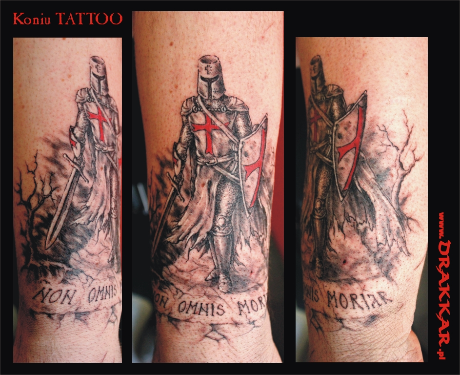 tatuaż z rycerzem, Gliwice