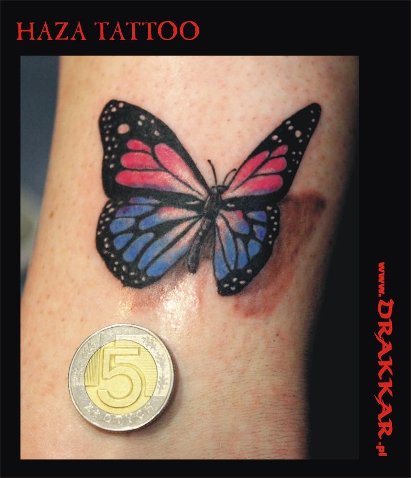 tatuaż z motywem motyla, studio tatuażu Katowice