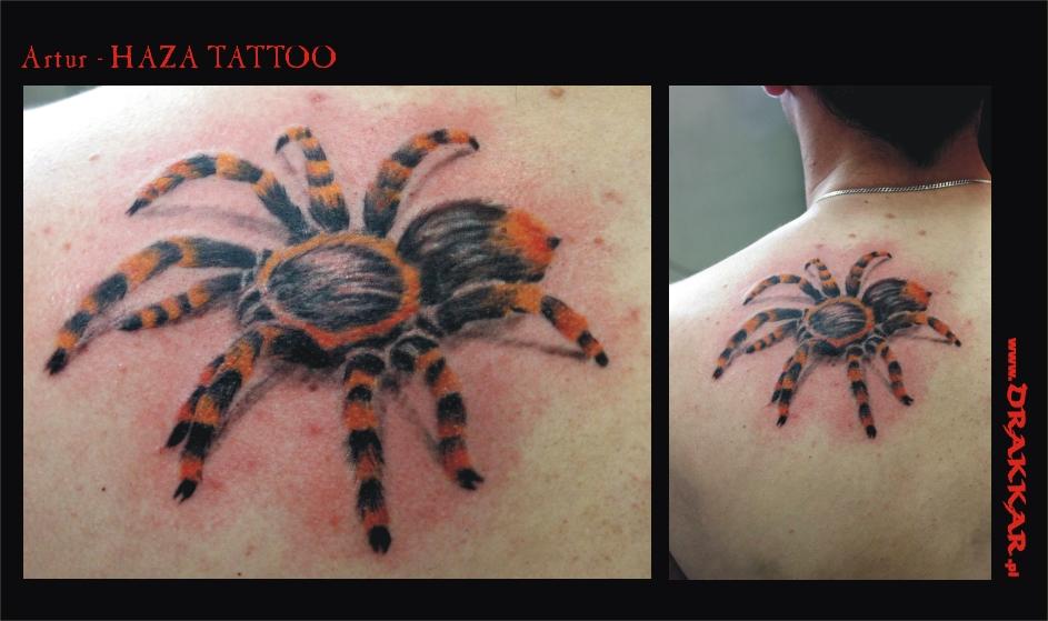 tatuaż - motyw pająka