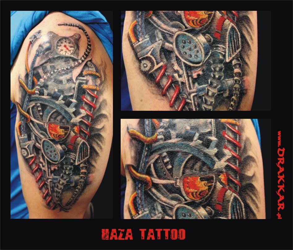tatuaż biomechaniczny, studio tatuażu w Tarnowskich Górach