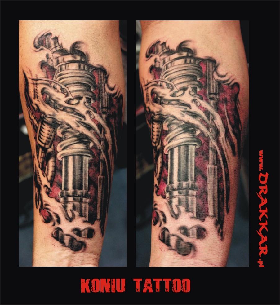 tatuaż na przedramieniu, studio tatuażu Śląsk