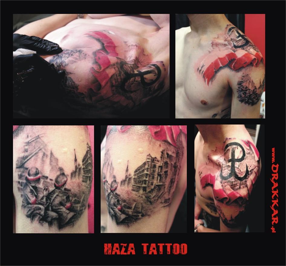 Haza tatuaż, Tarnowskie Góry, Gliwice, Śląsk