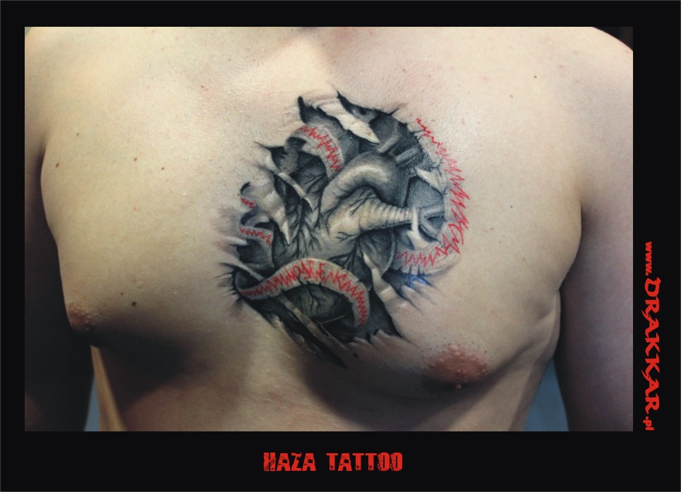 Haza - tatuaż studia Drakkar z Tarnowskich Gór