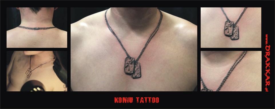 Koniu tatoo, studio Drakkar z Gliwic