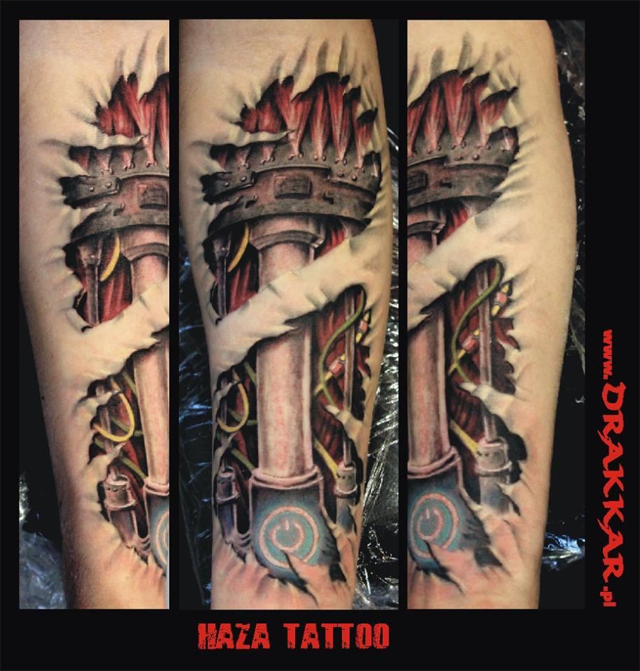 studio tatuażu, tatuaż biomechaniczny